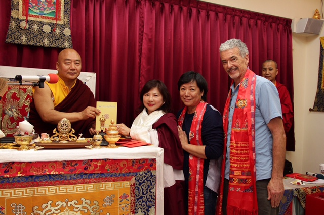 Rinpoche with students